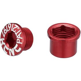 KCNC Road SPB003 Chainring Screw Set Shimano M8 short red